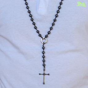 Colar Cordão Masculino Terço Crucifixo Top One