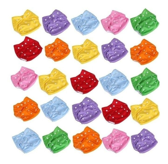 Pañal Ecologico De Tela Reutilizable 6 Colores +1 Inserto
