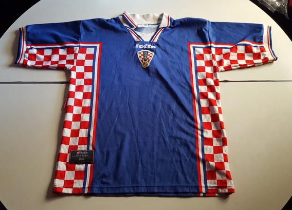 Camiseta De Croacia Azul Marca Lotto, Talle M
