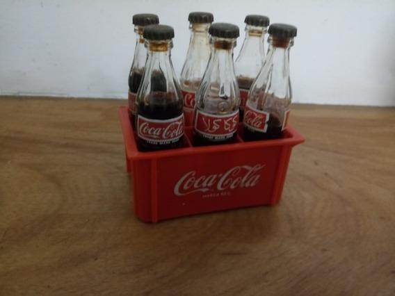 Mini Botellitas De Cocacola Con Cajon