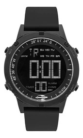 Relógio Masculino Mormaii Mow13901a/8p 46mm Dig Silicone