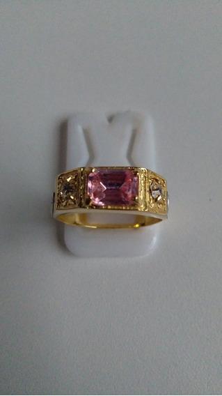 Anel Pedra Turmalina Rosa Com Garantia E Frete Grátis Ban18k