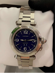 Cartier Pasha C Lady , 35mm , Blue Dial , Completo!!!