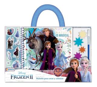 Frozen 2 Anna Elsa Maletin P Crear Colorear Acuarelas Y Mas