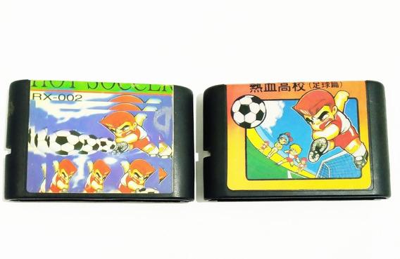 Cartuchos De Mega Drive Importados Usados Futebol Japones