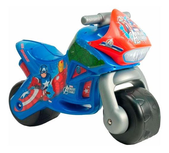 Moto Montable Correpasillos Infantil Twin Avengers Injusa