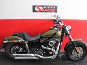 Harley Davidson Dyna Fat Bob Fxdf 2016 Verde