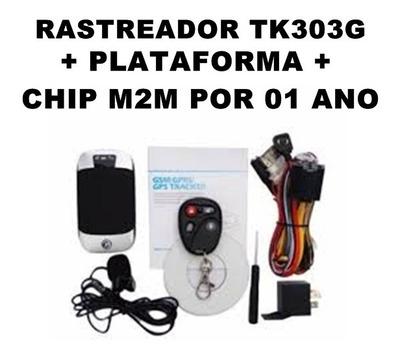 Rastreador + Plataformas + Chip M2m Por 12 Meses
