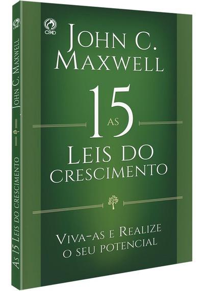 Livro John Maxwell - As 15 Leis Do Crescimento