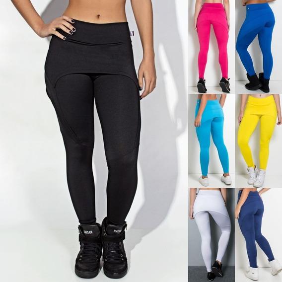Calça Legging Aranha Suplex Lisa Fitness Academia