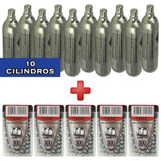 Combo 10 Cáp.co2 Swiss Arms 0.12g+ 5 Esfe.aço Action-x 4.5mm