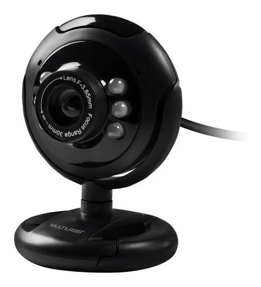 Webcam Night Vision 16 Megapixel Usb Led Wc045 Multilaser