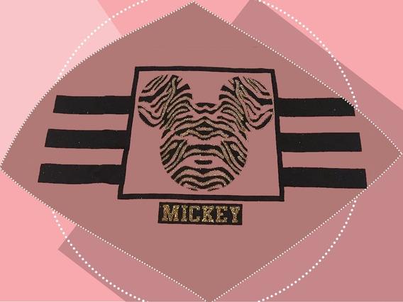Blusa Infantil Básica Mickey Safári Menina Moda Casual