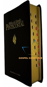Bíblia De Estudo Pentecostal Média Sagrada Preta Índice Rc