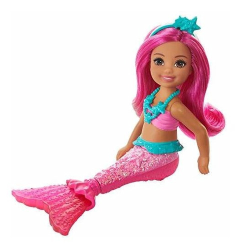 Muñeca Barbie Dreamtopia Chelsea Mermaid, 6.5 Pulgadas Con