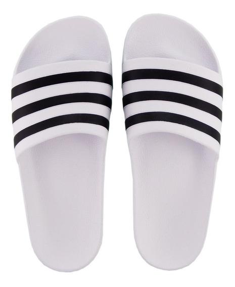 Chinelo Slide adidas Adilette Aqua Branco F35539 Orignal