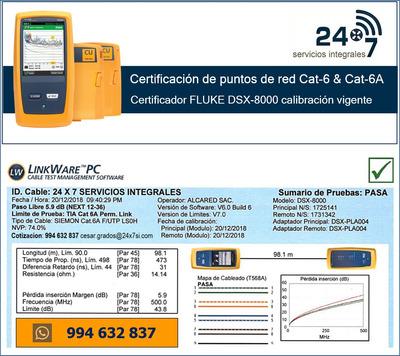 Certificacion Cableado De Red Puntos Cat-6 6a Fluke Dsx8000