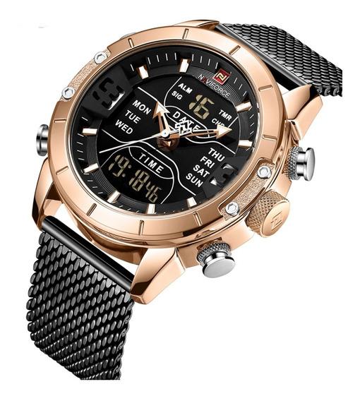 Reloj Militar Tactico Digital Naviforce Original Contra Agua