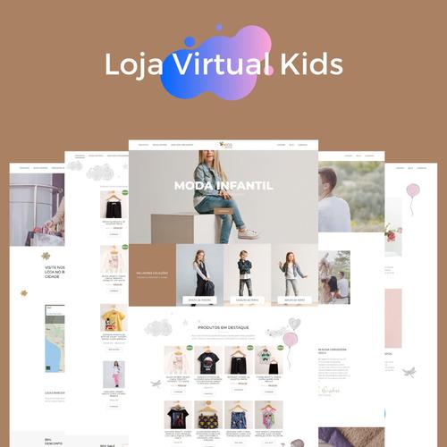 Imagem 1 de 6 de Loja Virtual Kids Modelo Pronto Para A Venda