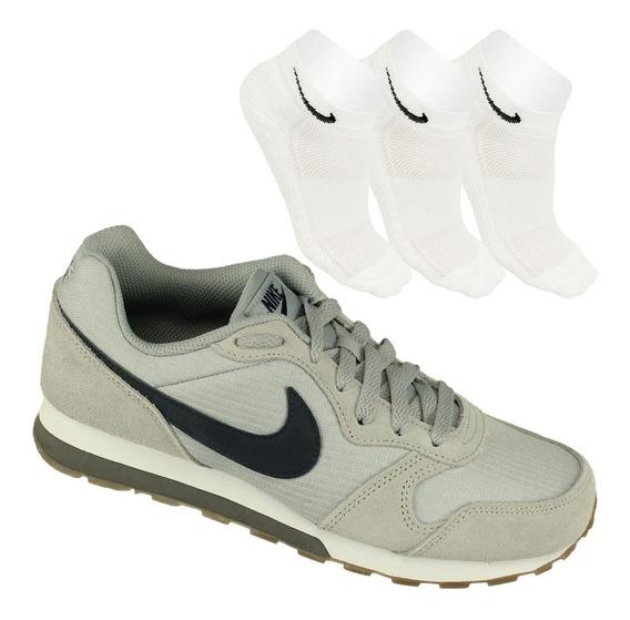 Oferta Nike Juvenil Tênis Md Runner 2 Gs+ 3 Meias Cano Baixo