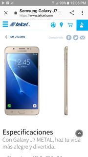 Samsung J7 Metal Dorado
