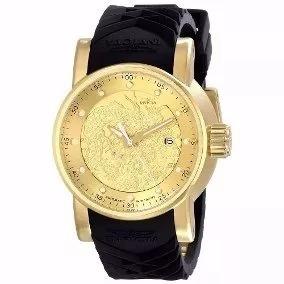 Relógio Yakuza S1 Dragon Preto Dourado E Preto
