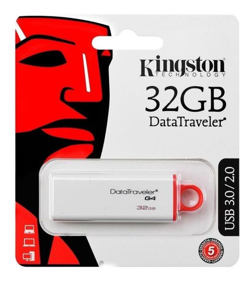 Pendrive Kingston 3.0 Usb 32gb Dtig4 Datatraveler Pen Drive É Compatível Com Interfaces Usb 3.1 Gen1 Ultra Rapida Branco