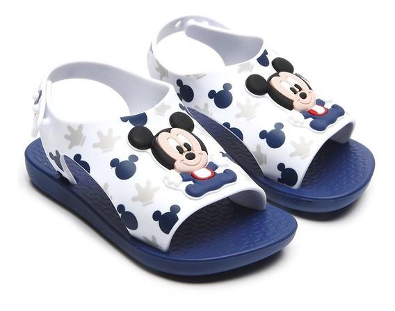 Sandalia Mickey Verano Azul/blanco Baby Fty Calzados 2019