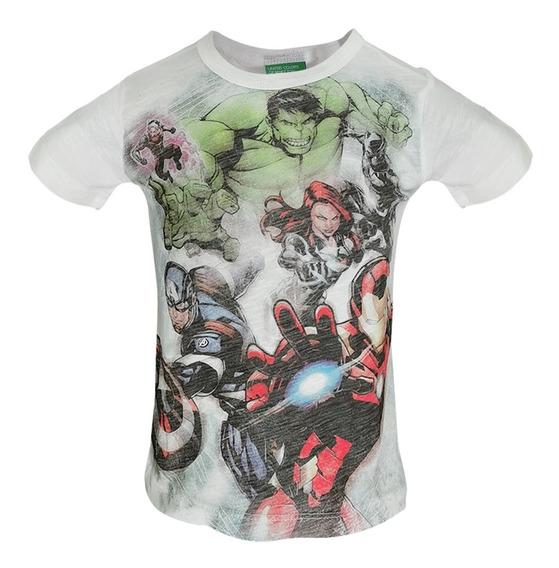 Playera Avengers Marvel Bebe Benetton 3z01c13nx