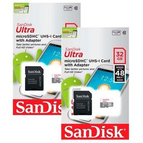 2 Cartão De Memória Para Celular 32gb Sandisk Original Nfe