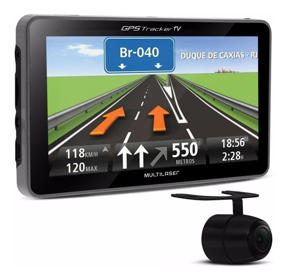 Gps Carro Multilaser Gp035 4,3 Pol Tv Alerta Radar + Cam Ré