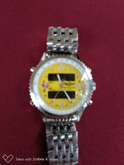 Relógio Breitling 1884 Fundo Amarelo