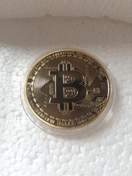 Moeda Física Bitcoin - Btc - Banhada - Acabamento Premium!