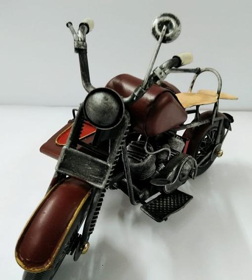 Miniatura Moto Antiga Vintage Metal Decoração Envio Imediato