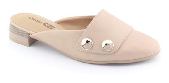 Tamanco Mule Flats Feminino 1990305 Original - Comfortflex