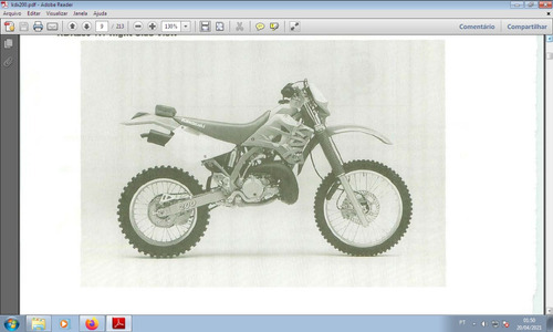 Kawasaki Kdx 200 Com Partida Elétrica