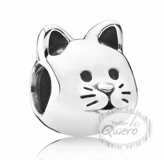 Charm 100% Plata 925 Gato Mascota Gatito Compatible Pandora