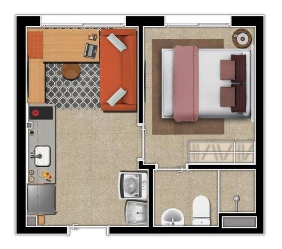 Apartamento Para Venda Em São Paulo, Sé, 1 Dormitório, 1 Suíte, 1 Banheiro - 1dsvst_ct_1-1374285