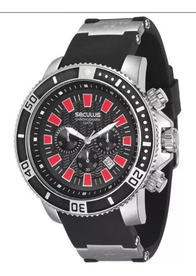 Relógio Masculino Seculus Cronógrafo 20274gosvnu1