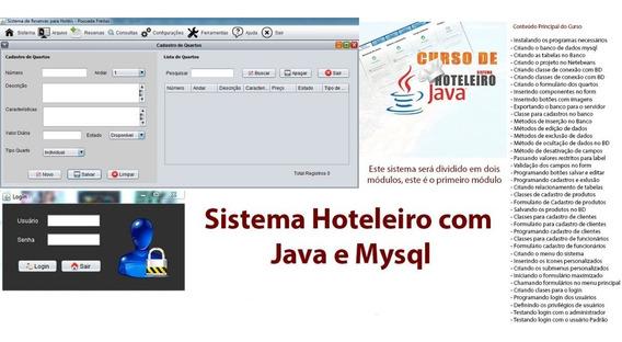 Curso De Sistema Hoteleiro C/ Java E Mysql - Módulos 1 E 2.