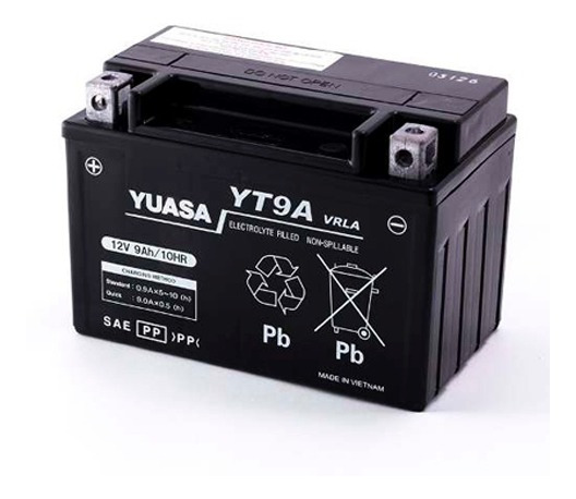 Bateria Yuasa Yt9a = Ytx9 Bs Inazuma 250 Ns 200 Duke 200/390