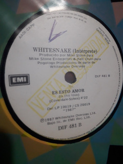 Vinilo Radio Simple Difusion Pet Shop Boys Whitesnake 1987