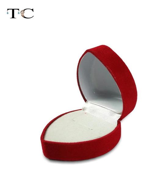 Estuche Joyeria Corazon Regalo Caja Arete Anillo Compromiso Rojo