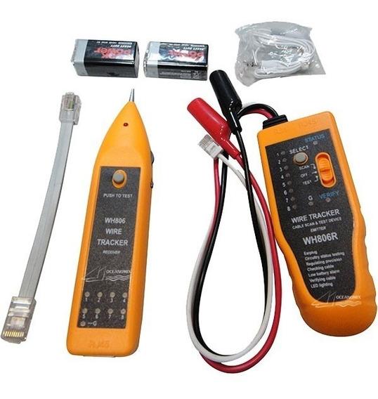 Kit Localizador Zumbidor E Teste De Cabos Rj45 Wh-806r