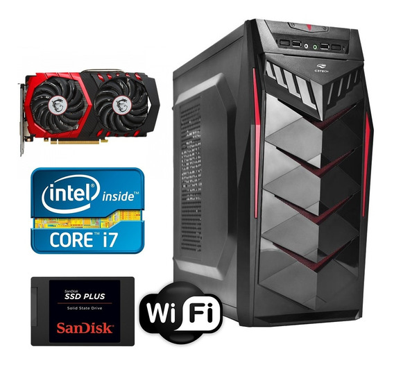 Pc Cpu Gamer Core I7 3770 8gb 500gb Hd Rx550 2gb Gddr5