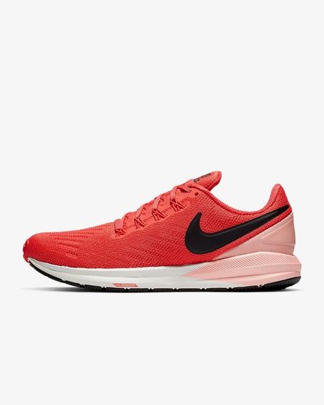 Tênis De Corrida Feminino Nike Air Zoom Structure 22 Rosa