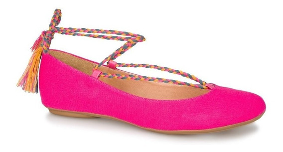 Zapato Andrea Flat Ballerina Fiusha 2463483 Cordones