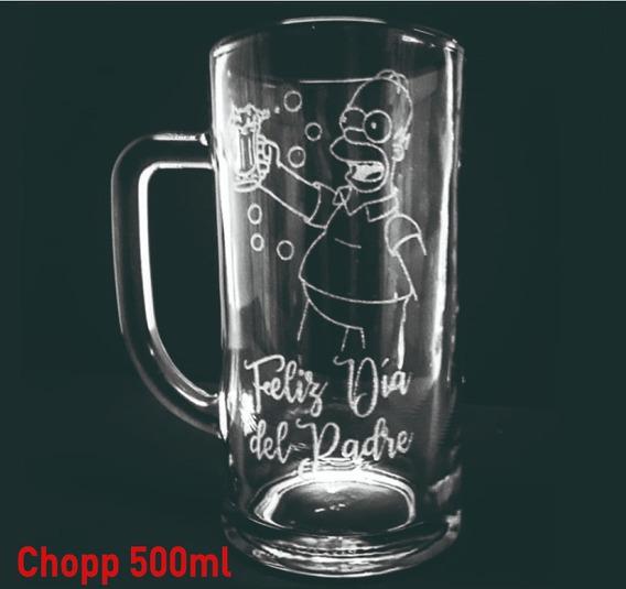 Vasos Vidrio Chopp 500ml Cervecero Personalizado Grabado X1u Eventos Cumpleaños Regalos Souvenir Vaso Cerveza Cervecería