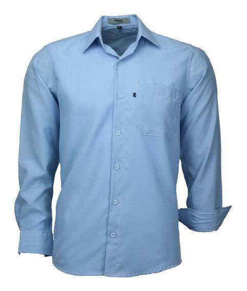 Camisa Masculina Social Não Amassa Modelagem Tradicional 832