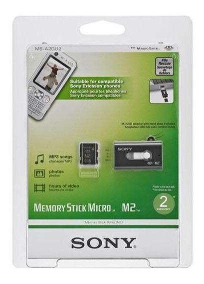 Cartao De Memoria Micro M2 Sony C/ Adaptador Usb Box